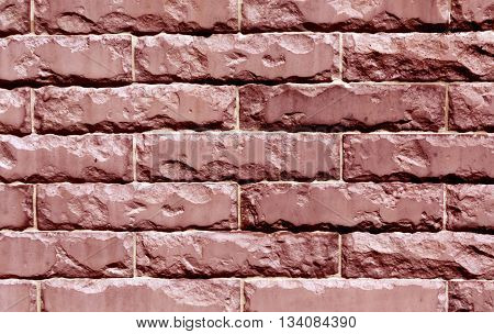 Color Stylized Brick Wall Texture Background.