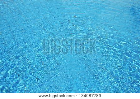 a blue water in the pool background