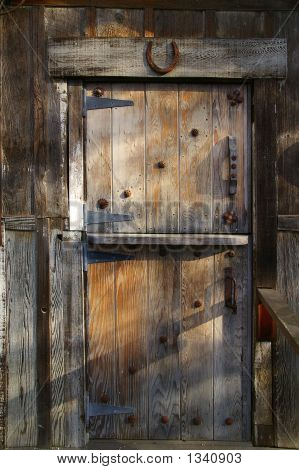 Rustic Wooden Barn Door
