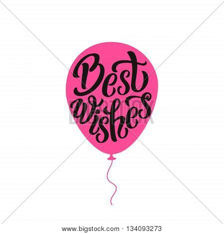 Best Wishes Typography Lettering Poster