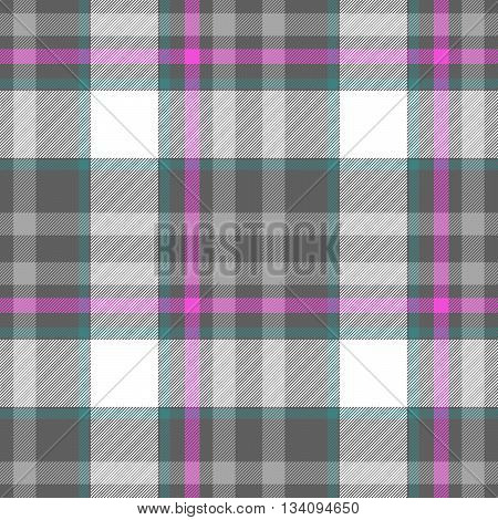 check diamond tartan plaid fabric seamless pattern texture background - gray pink white and blue colored