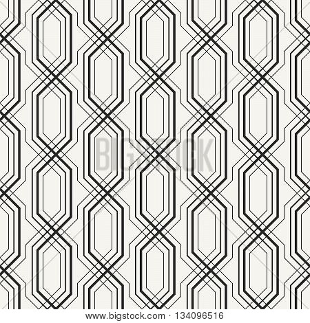 Modern Stylish Outlined Geometric Background With Complex Repeating Structure Of Crossing Lines. Vec