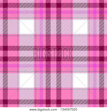 check diamond tartan plaid fabric seamless pattern texture background - pink purple and white colored
