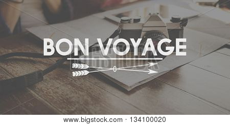 Bon Voyage Adventure Farewell Journey Transport Concept