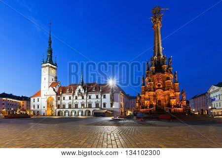 OLOMOUC, CZECH REPUBLIC - JUNE 05, 2016: Scene from the old town of Olomouc, Czech Republic on June 05, 2016.