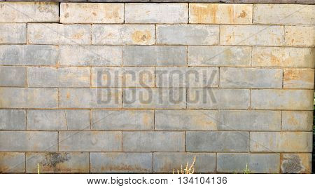 Old brick wall background exterior at historic building