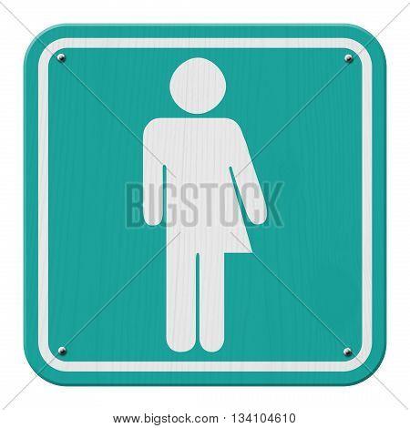 Transgender Sign Teal and White Sign with a transgender symbol, 3D Illustration