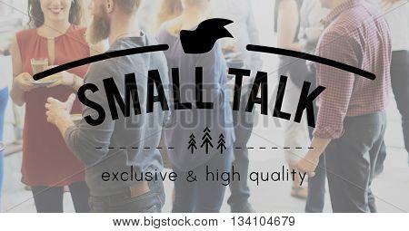 Small Talk Advice Break Colleagues Discussion Concept