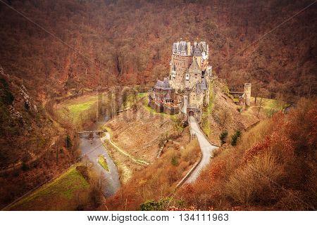 Eltz castle in Wierschem, Germany (Burg Eltz)