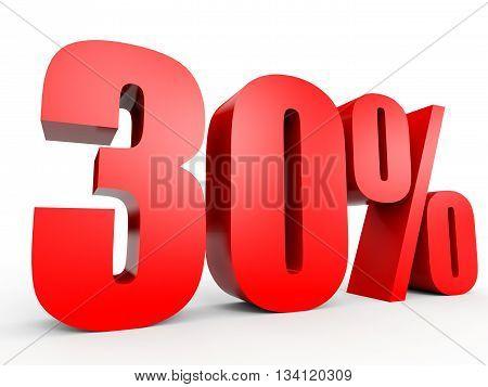 Discount 30 Percent Off. 3D Illustration.