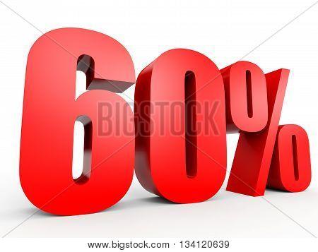 Discount 60 Percent Off. 3D Illustration.