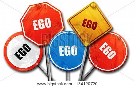 ego, 3D rendering, rough street sign collection