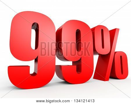 Discount 99 Percent Off. 3D Illustration.