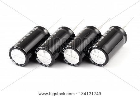 Electrolytic Capacitors Row