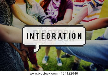 Integration Incorporate Consolidate Immigration Concept