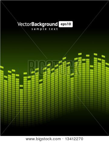 Green equalizer vector background