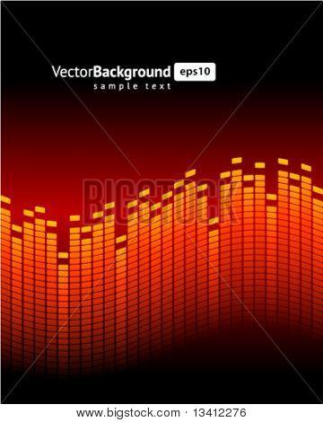 Red equalizer vector background
