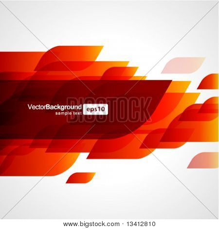 Abstract fly shapes vector background