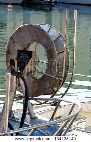 Trawl Winch on the Deck of Fishing Boat