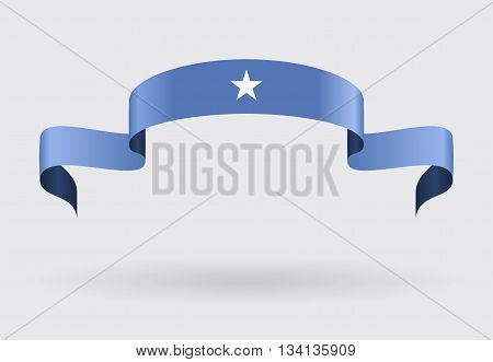 Somalian flag wavy abstract background. Vector illustration.