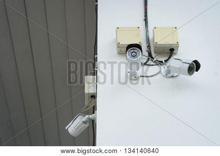 CCTV Security Camera Closed circuit televisionsurveillance camera.