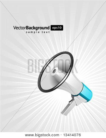 Megaphone vector background. Eps 10