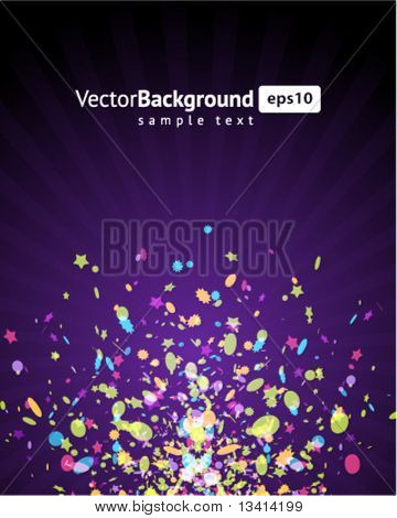 Vector colorful fireworks background. Eps 10
