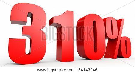 Discount 310 Percent Off. 3D Illustration.