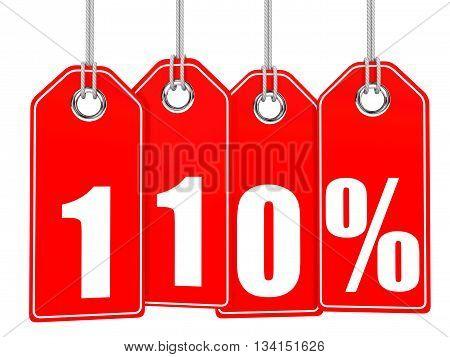 Discount 110 Percent Off. 3D Illustration.