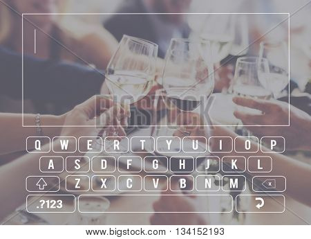 Keyboard Keypad Global Communications Connection Concept