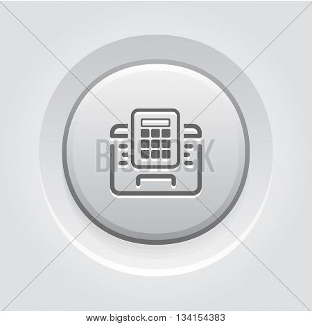 Secured Access Icon. Flat Design. Business Concept Grey Button Design