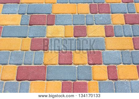 the road tile of pedestrian way texture
