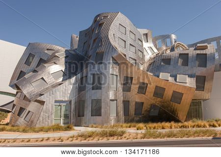 LAS VEGAS, NV - JUNE 30, 2012: The Lou Ruvo Center for Brain Health in Las Vegas Nevada is a unique architectural design by Frank Gehry