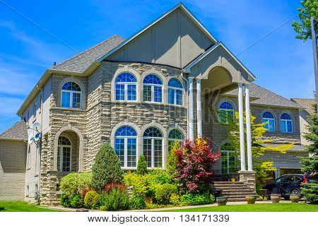 Custom built luxury house in the suburbs of Toronto, Canada. poster