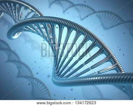 3D illustration concept of genetic engineering or genetic modification.