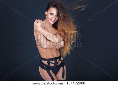 Sexy Girl In Erotic Lingerie.