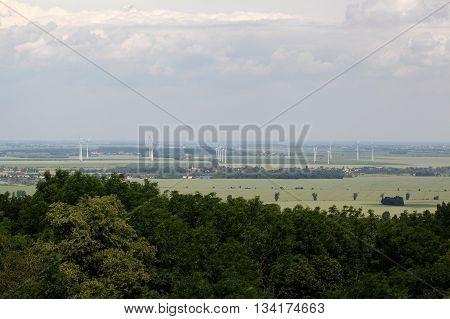 Landscape in Saxony Anhalt in central Germany.