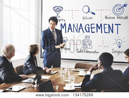 Management Coaching Business Dealing Mentor Concept