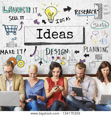 Ideas Create Inspiration Innovation Design Concept