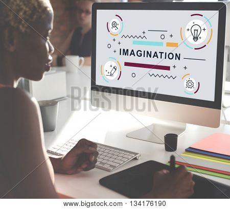 Design Creative Imagination Ideas Graphic Concept