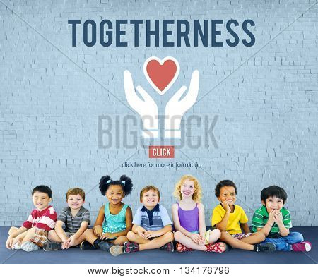 Togetherness Unity Design Icon Heart Concept