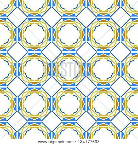 Seamless color abstract geometric pattern. Decorative background. Vector illustration