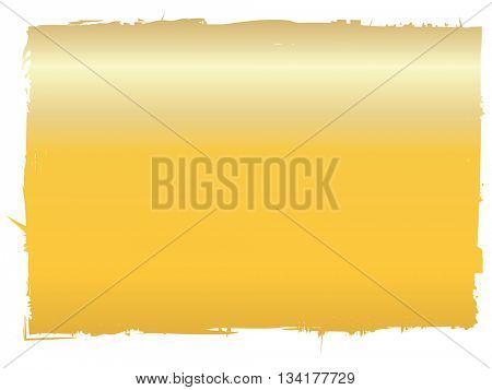 Golden graduated effect applied ti rectangular shape with rough edges