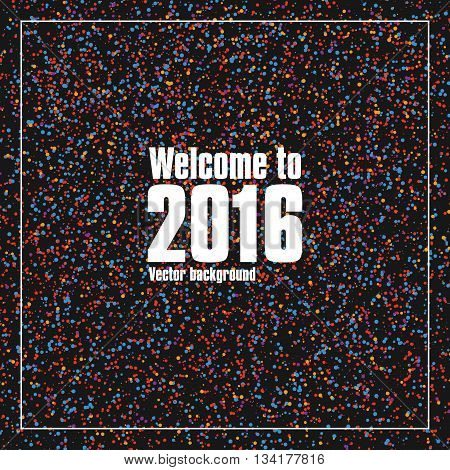 Colorful dots abstract background composition, can be used to cover the annual New Year's design.
