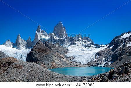 Laguna de Los Tres and Mount Fitz Roy - El Chalten, Patagonia Argentina