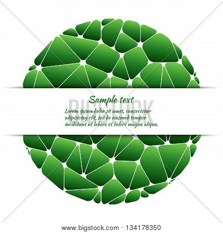 Poster design with abstract pattern and space for text. Vector template for covers banners cards etc.
