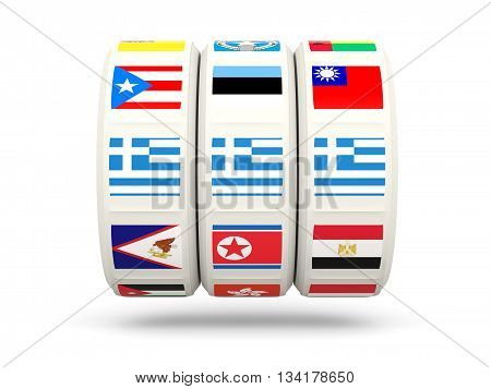 Slots With Flag Of Greece