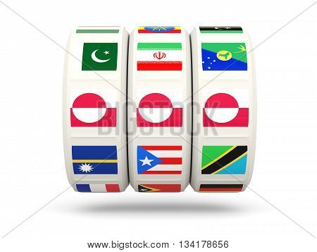 Slots With Flag Of Greenland