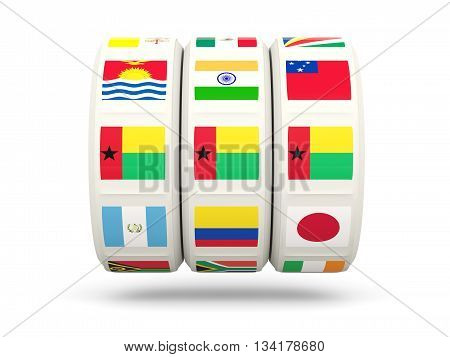Slots With Flag Of Guinea Bissau