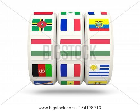 Slots With Flag Of Hungary